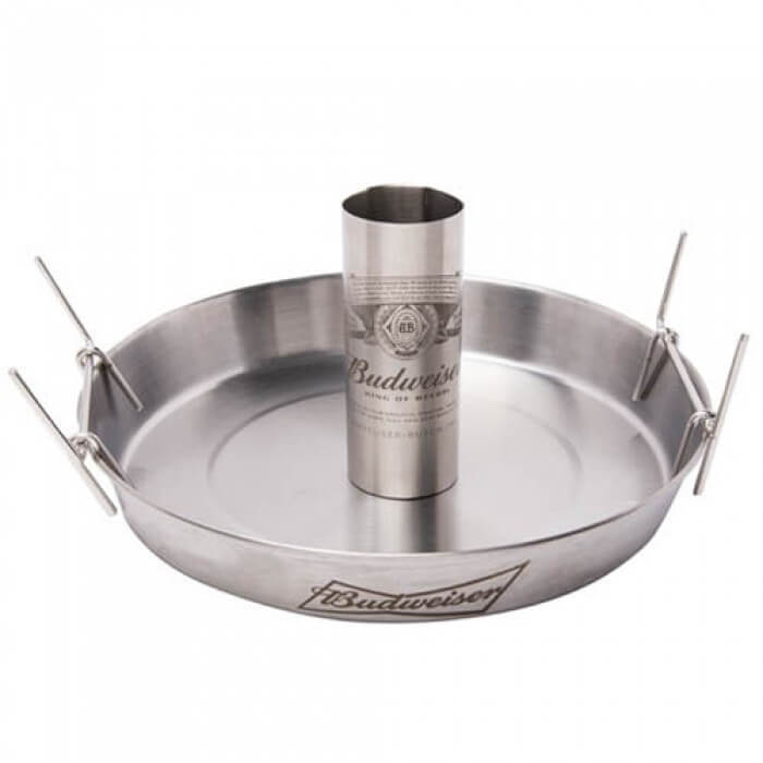 Budweiser Deluxe Beer Can Roaster from Camerons Products