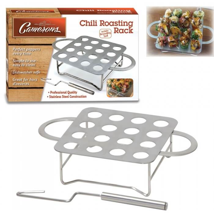 Chile Roasting Rack with Pit Remover from Camerons Products