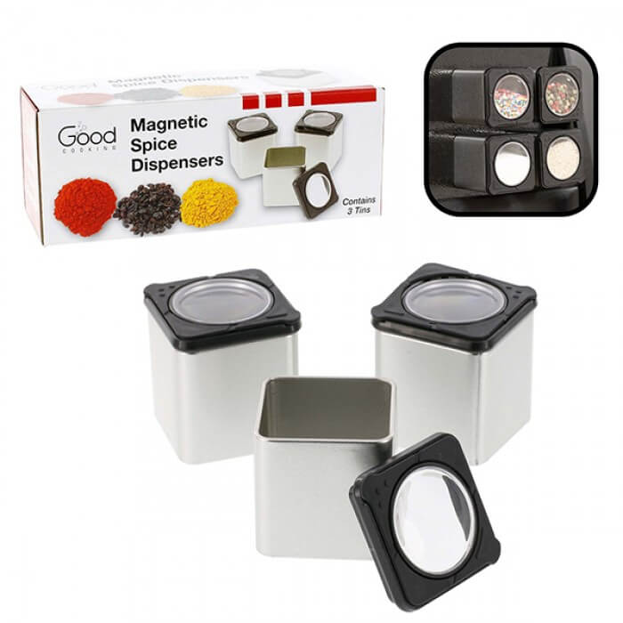 Good Cooking Magnetic Spice Dispensers - 3 Pack from Camerons Products