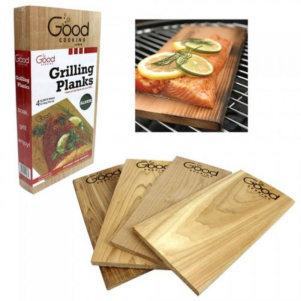 Good Cooking Grilling Planks 4 Pack - Alder from Camerons Products
