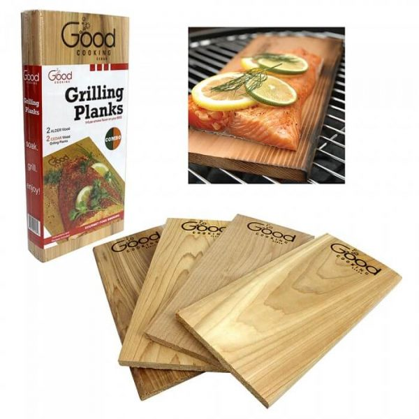 Good Cooking Grilling Planks - 4 Pack Combo from Camerons Products