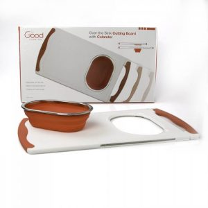 Good Cooking Over Sink Cutting Board with Collapsible Colander from Camerons Products