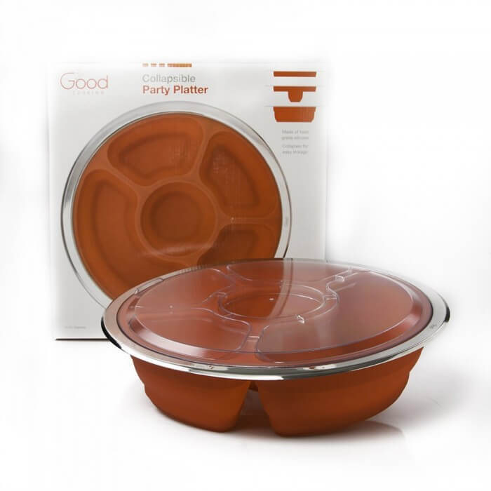 Good Cooking Silicone Collapsible Party Platter from Camerons Products