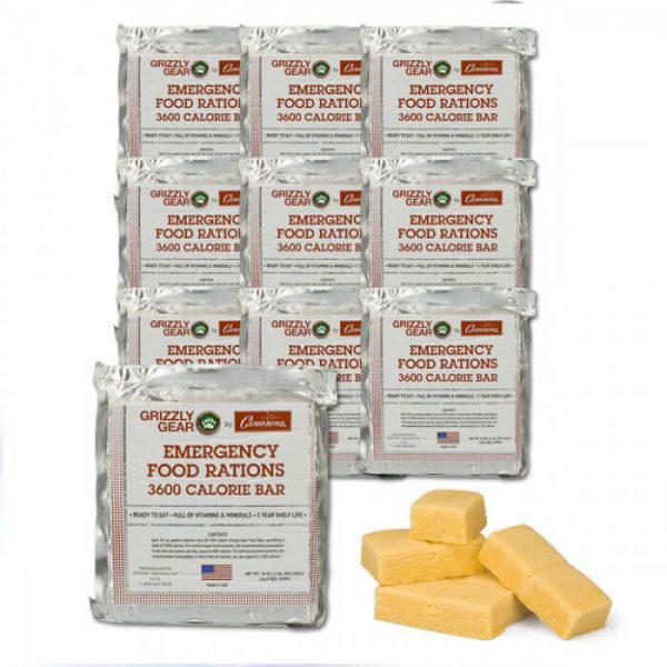 Grizzly Gear Emergency Long Shelf Life Food Rations Case from Camerons Products