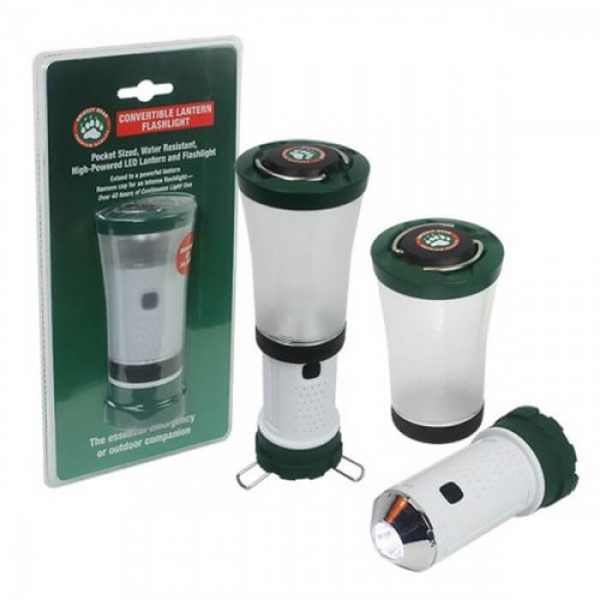 Grizzly Gear Emergency LED Convertible Battery Powered Lantern and Flashlight from Camerons Products