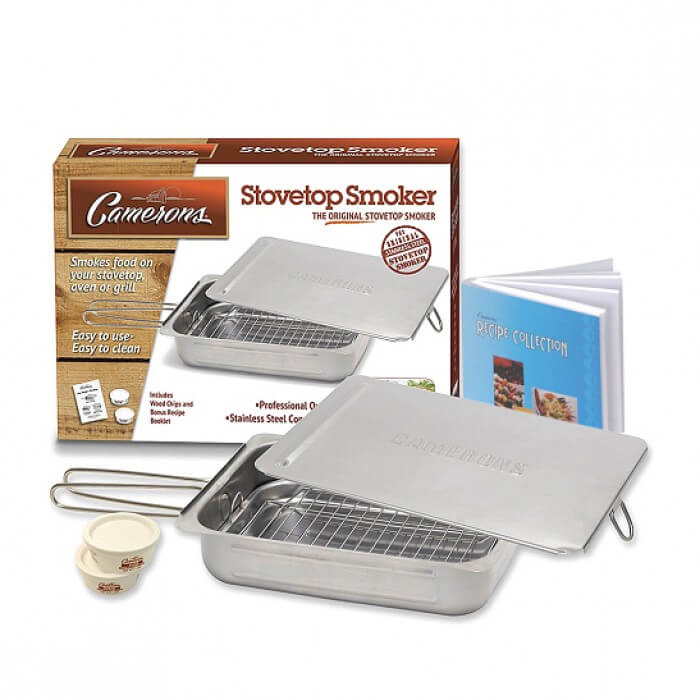 Original Stovetop Smoker with Cookbook from Camerons Products