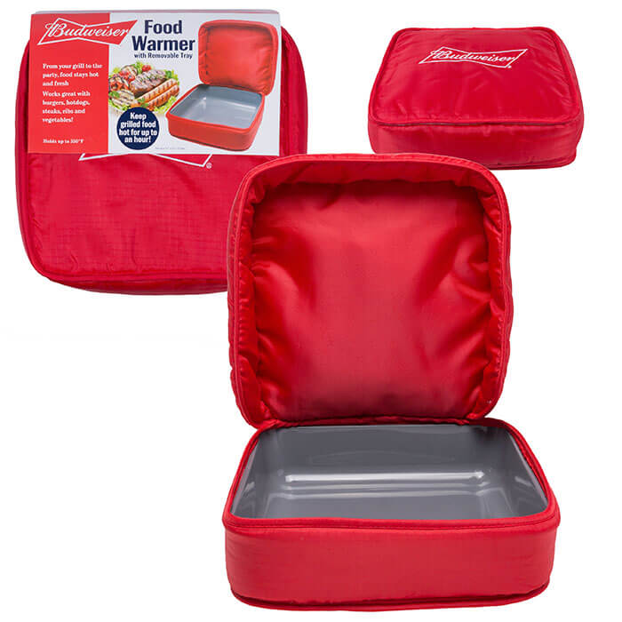 Budweiser Food Warmer with Removable Tray from Camerons Products