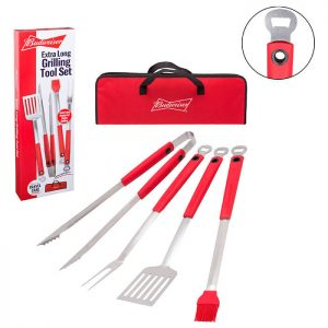Budweiser Extra Long Grilling Tool Set from Camerons Products