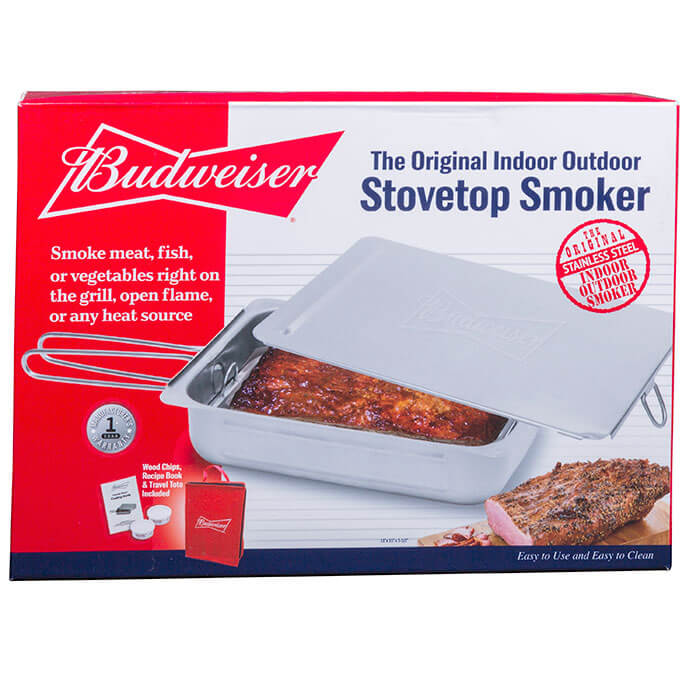 Budweiser Original Indoor Outdoor Stovetop Smoker From