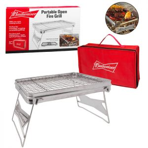 Budweiser Portable Open Fire Grill from Camerons Products