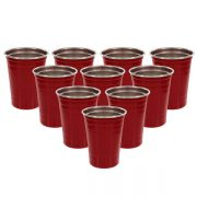 DEco Stainless Steel Party Cups Set of 10 from Camerons Products