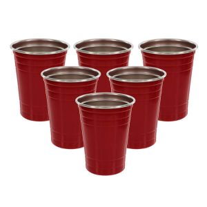 DEco Stainless Steel Party Cups Set of 6 from Camerons Products