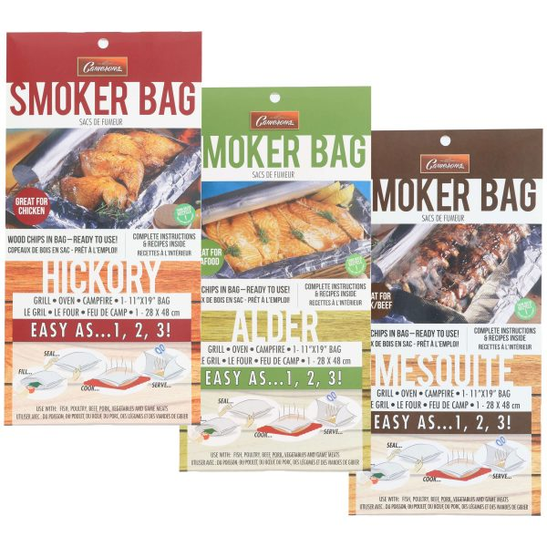 Smoker Bag in Alder, Hickory and Mesquite from Camerons Products