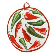 "10"" and 12"" Tortilla Warmer - Peppers from Camerons Products"