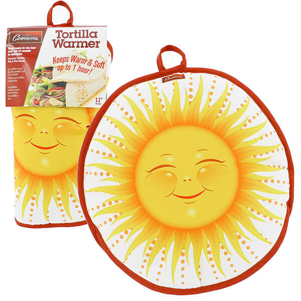 "12"" Tortilla Warmer - Sun from Camerons Products"