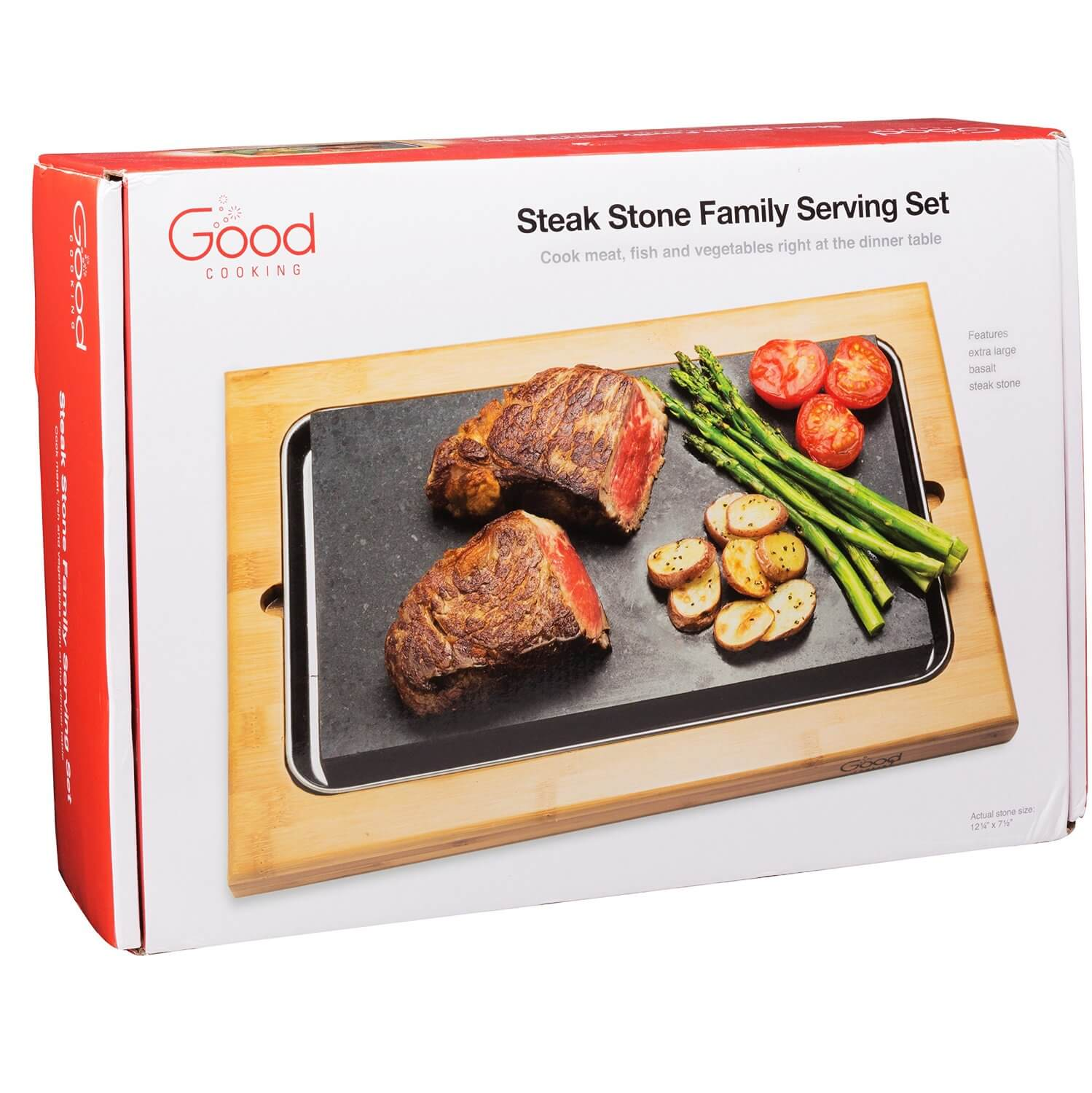 Good Cooking Steak Stone Deluxe Serving Set From Camerons