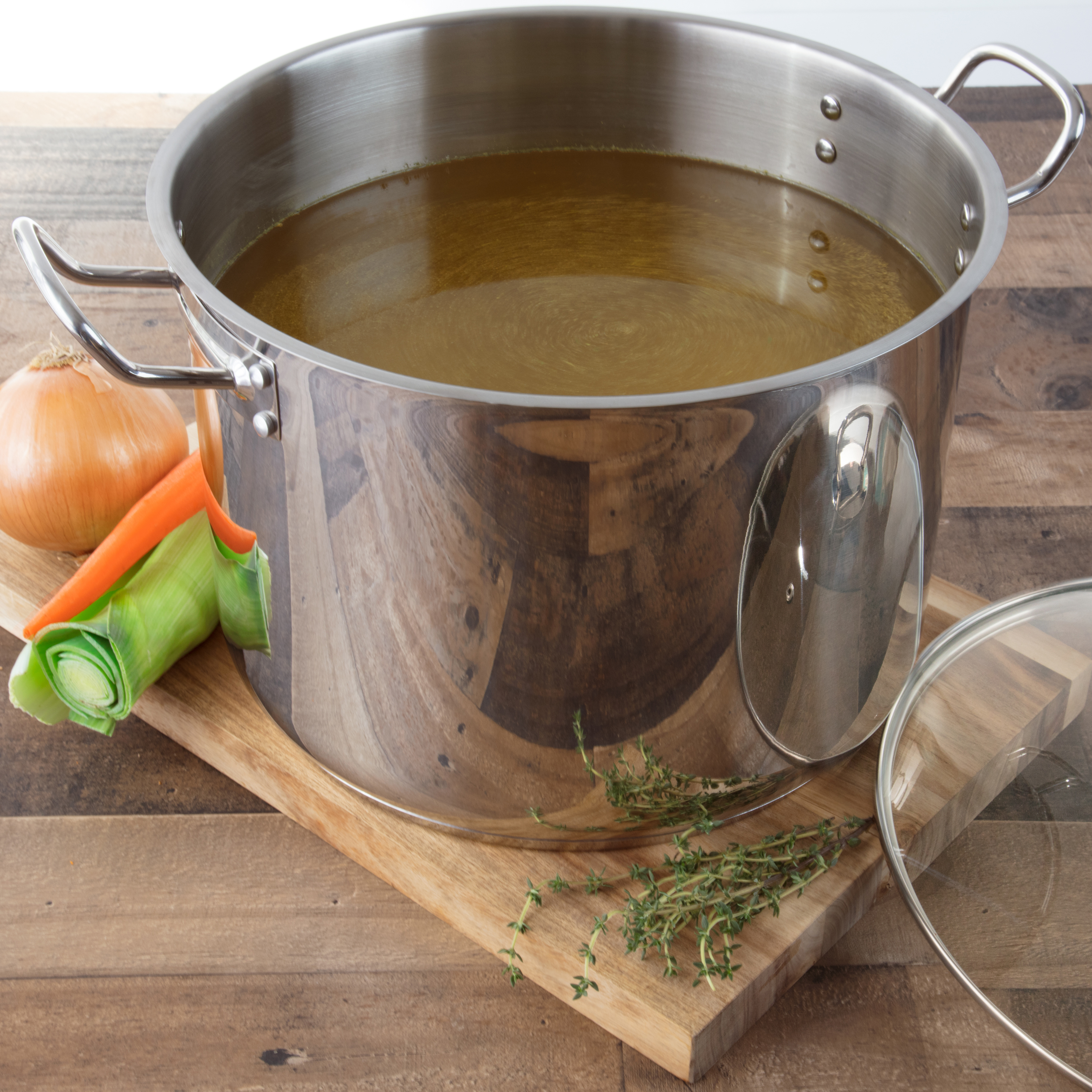 24 Quart Tri Ply Stainless Steel Stockpot W Cover